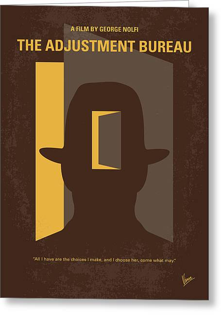 No710 My The Adjustment Bureau Minimal Movie Poster Greeting Card
