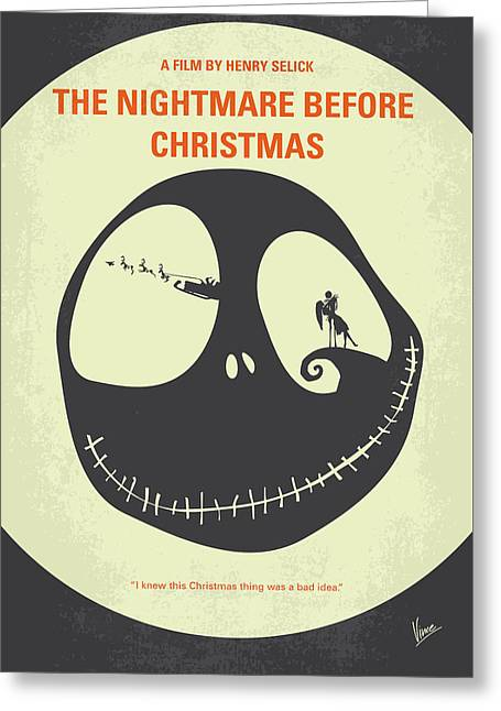 No712 My The Nightmare Before Christmas Minimal Movie Poster Greeting Card by Chungkong Art