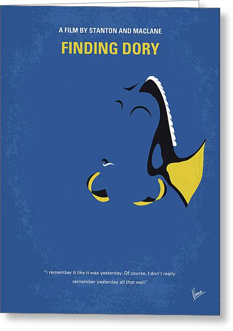 No717 My Finding Dory Minimal Movie Poster Greeting Card