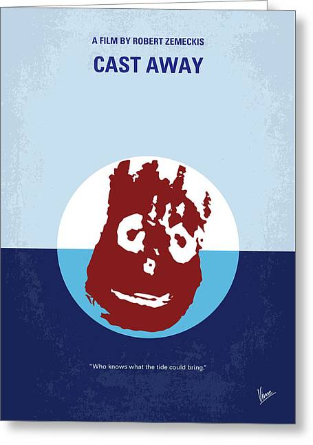 No718 My Cast Away Minimal Movie Poster Greeting Card by Chungkong Art