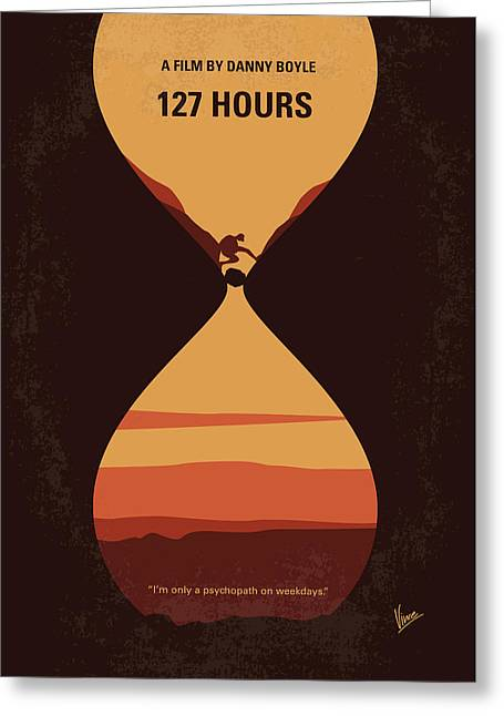 No719 My 127 Hours Minimal Movie Poster Greeting Card