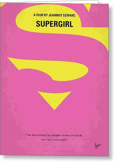 No720 My Supergirl Minimal Movie Poster Greeting Card