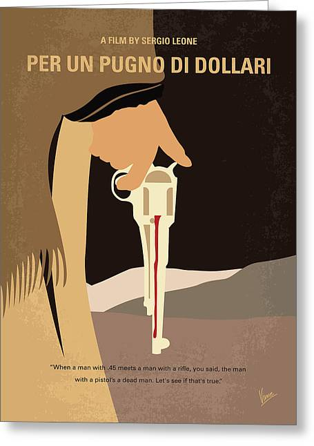 No721 My A Fistful Of Dollars Minimal Movie Poster Greeting Card