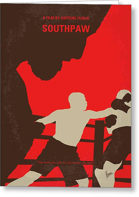 No723 My Southpaw Minimal Movie Poster Greeting Card
