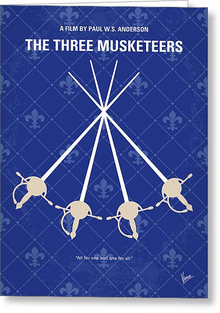 No724 My The Three Musketeers Minimal Movie Poster Greeting Card