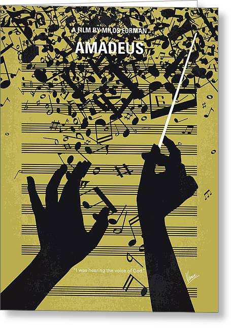 No725 My Amadeus Minimal Movie Poster Greeting Card