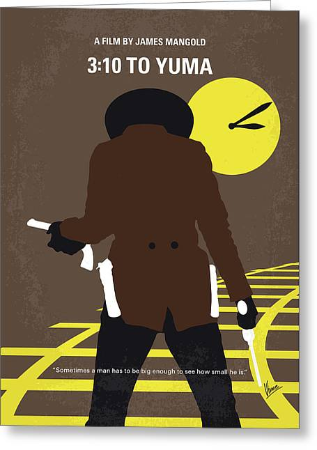 No726 My 310 To Yuma Minimal Movie Poster Greeting Card by Chungkong Art