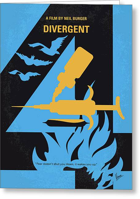 No727 My Divergent Minimal Movie Poster Greeting Card by Chungkong Art