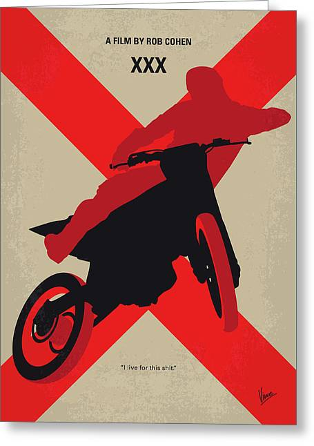 No728 My Xxx Minimal Movie Poster Greeting Card