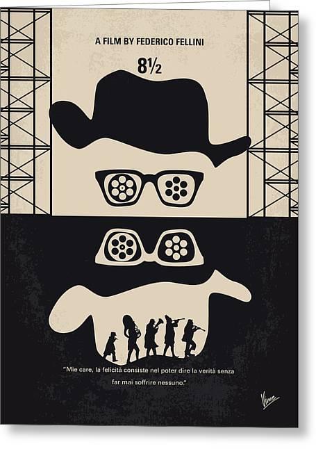 No731 My 8 1 2 Minimal Movie Poster Greeting Card by Chungkong Art
