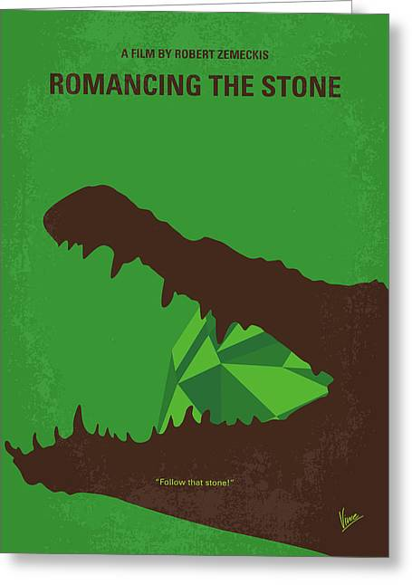 No732 My Romancing The Stone Minimal Movie Poster Greeting Card