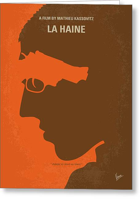No734 My La Haine Minimal Movie Poster Greeting Card
