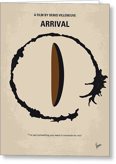 No735 My Arrival Minimal Movie Poster Greeting Card by Chungkong Art