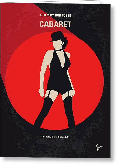 No742 My Cabaret Minimal Movie Poster Greeting Card