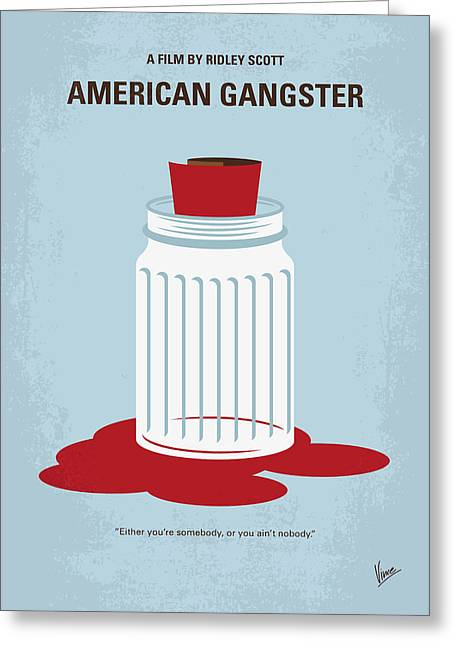 Greeting Card featuring the digital art No748 My American Gangster Minimal Movie Poster by Chungkong Art