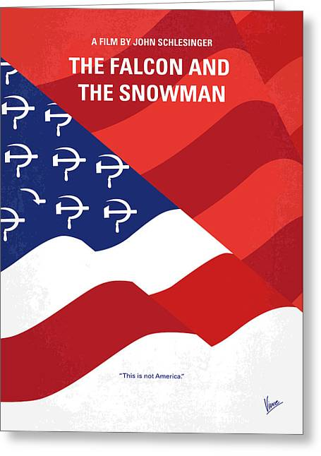 No749 My The Falcon And The Snowman Minimal Movie Poster Greeting Card