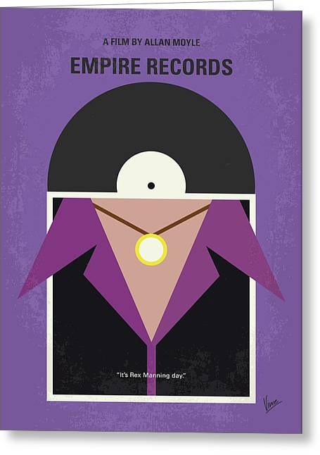 Greeting Card featuring the digital art No750 My Empire Records Minimal Movie Poster by Chungkong Art