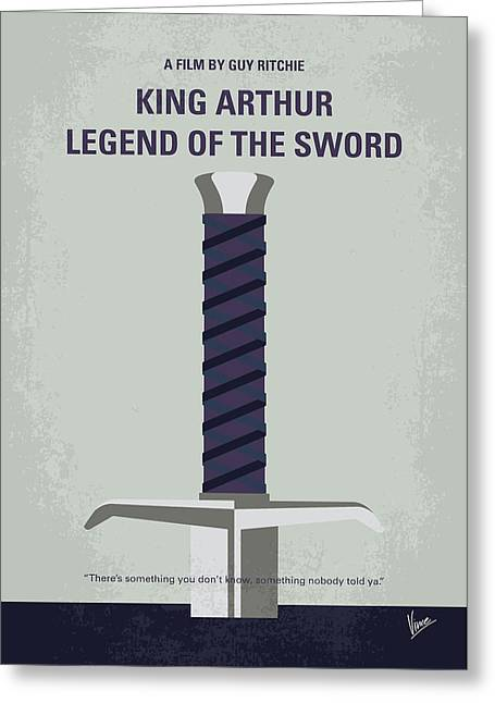 No751 My King Arthur Legend Of The Sword Minimal Movie Poster Greeting Card by Chungkong Art