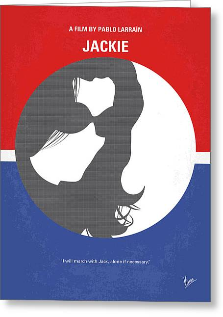 No755 My Jackie Minimal Movie Poster Greeting Card by Chungkong Art