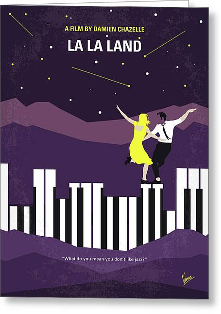 No756 My La La Land Minimal Movie Poster Greeting Card by Chungkong Art