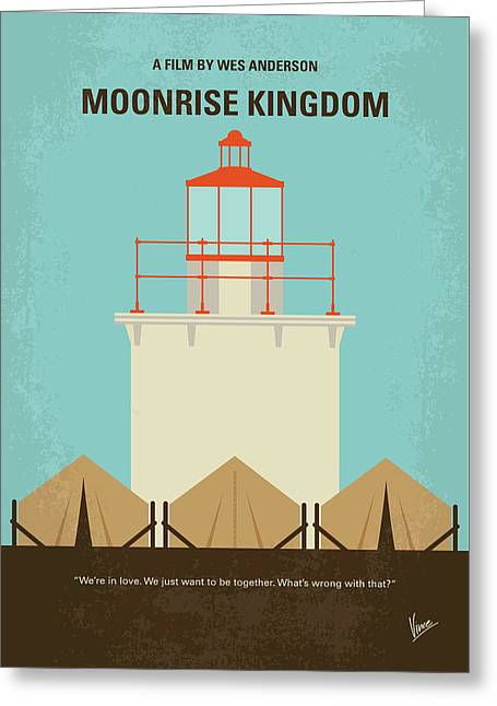 No760 My Moonrise Kingdom Minimal Movie Poster Greeting Card by Chungkong Art