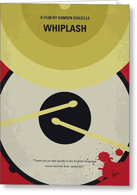 No761 My Whiplash Minimal Movie Poster Greeting Card
