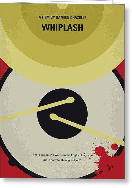 No761 My Whiplash Minimal Movie Poster Greeting Card by Chungkong Art