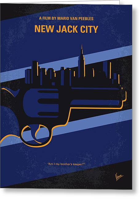 No762 My New Jack City Minimal Movie Poster Greeting Card by Chungkong Art