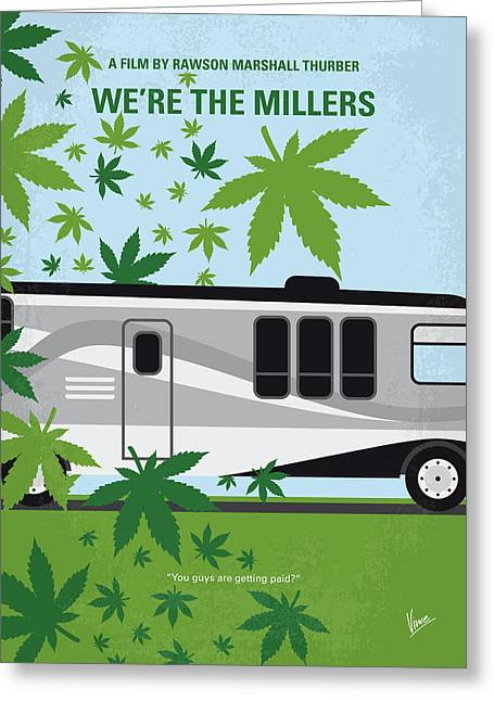 No763 My We Are The Millers Minimal Movie Poster Greeting Card by Chungkong Art