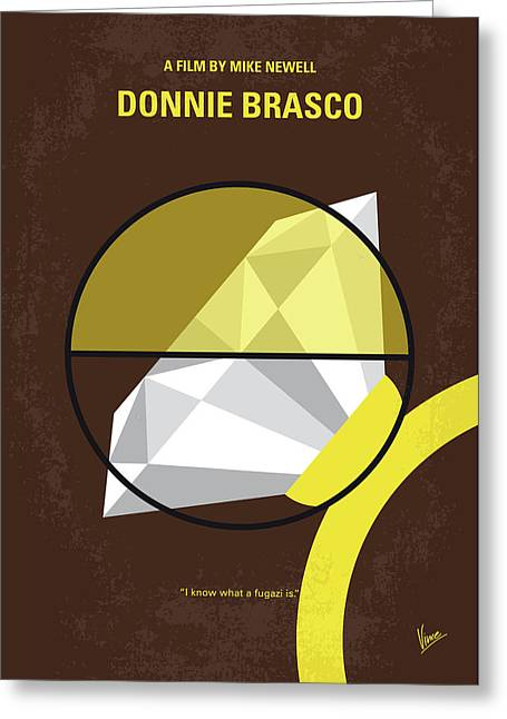 No766 My Donnie Brasco Minimal Movie Poster Greeting Card by Chungkong Art