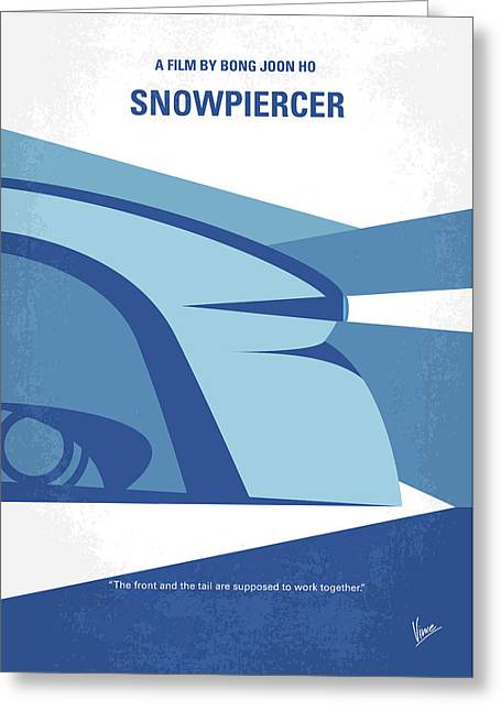 Greeting Card featuring the digital art No767 My Snowpiercer Minimal Movie Poster by Chungkong Art
