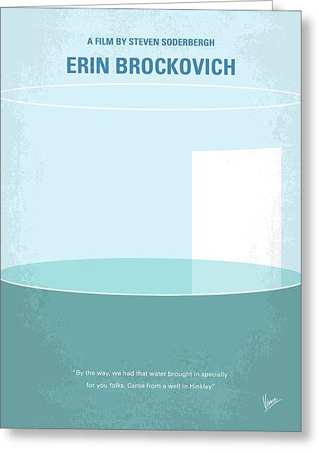 No769 My Erin Brockovich Minimal Movie Poster Greeting Card