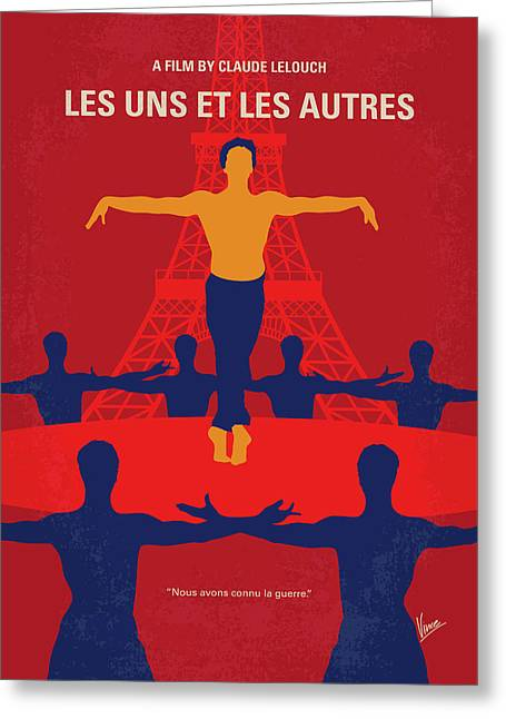 Greeting Card featuring the digital art No771 My Les Uns Et Les Autres Minimal Movie Poster by Chungkong Art