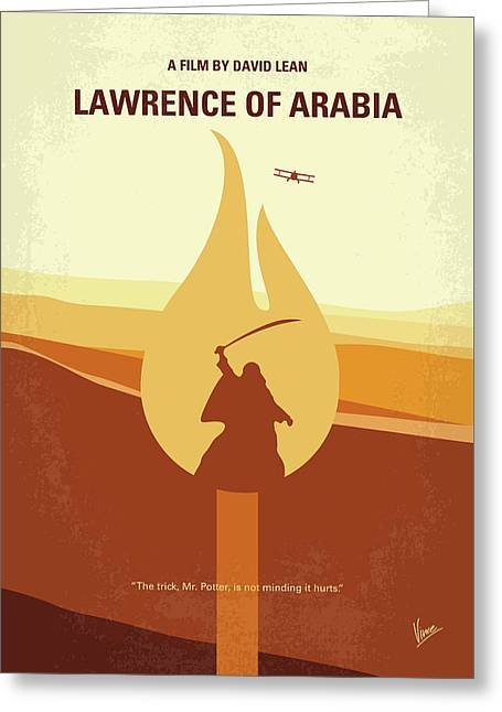 Greeting Card featuring the digital art No772 My Lawrence Of Arabia Minimal Movie Poster by Chungkong Art
