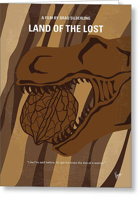 No773 My Land Of The Lost Minimal Movie Poster Greeting Card