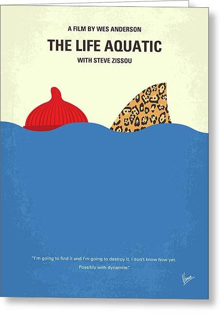 No774 My The Life Aquatic With Steve Zissou Minimal Movie Poster Greeting Card by Chungkong Art