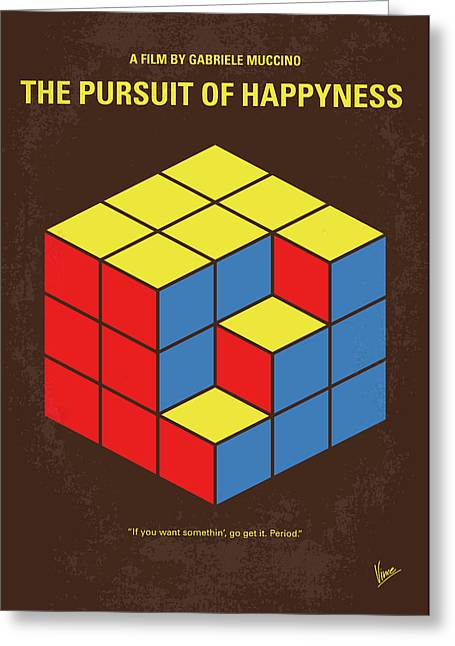 No775 My The Pursuit Of Happyness Minimal Movie Poster Greeting Card by Chungkong Art