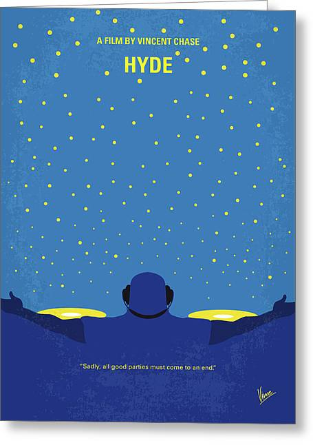 No777 My Hyde Minimal Movie Poster Greeting Card