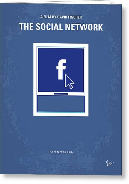 No779 My The Social Network Minimal Movie Poster Greeting Card by Chungkong Art