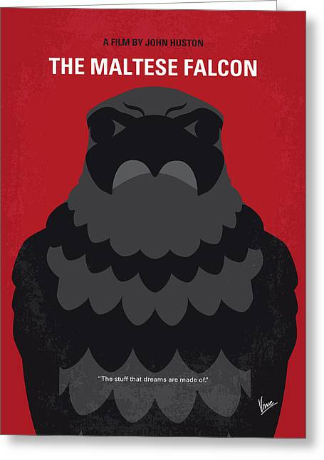 No780 My The Maltese Falcon Minimal Movie Poster Greeting Card