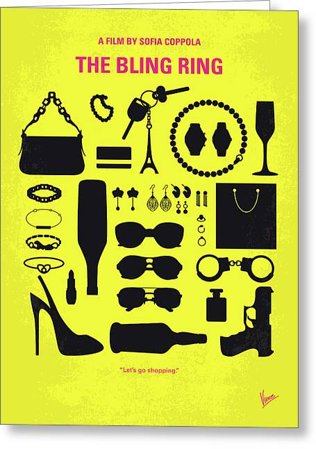 No784 My The Bling Ring Minimal Movie Poster Greeting Card by Chungkong Art