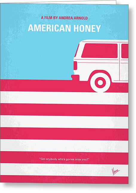 No786 My American Honey Minimal Movie Poster Greeting Card by Chungkong Art