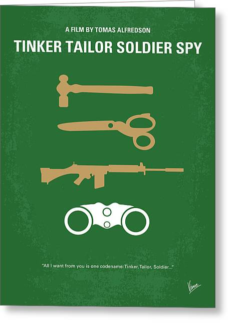 No787 My Tinker Tailor Soldier Spy Minimal Movie Poster Greeting Card