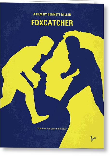 No788 My Foxcatcher Minimal Movie Poster Greeting Card by Chungkong Art
