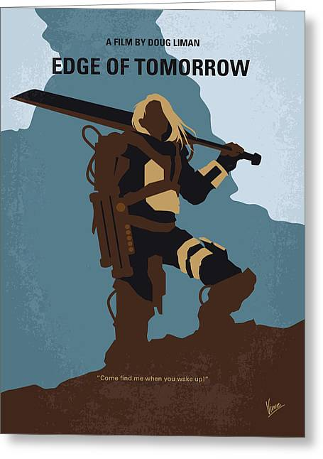 No790 My Edge Of Tomorrow Minimal Movie Poster Greeting Card by Chungkong Art