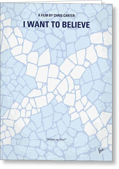 No792 My I Want To Believe Minimal Movie Poster Greeting Card