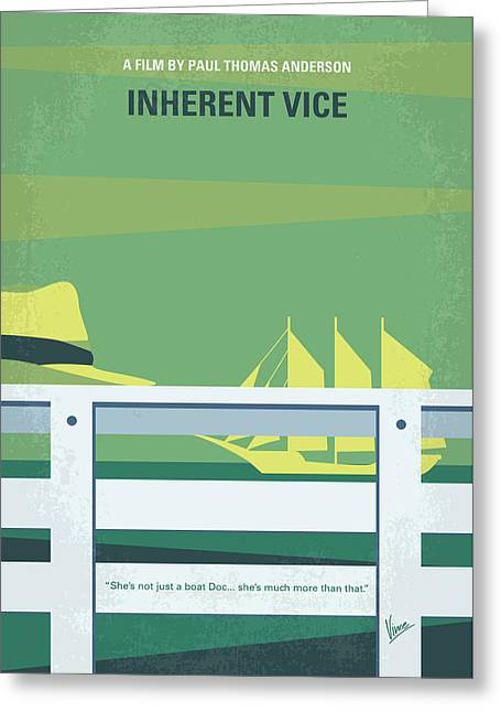 No793 My Inherent Vice Minimal Movie Poster Greeting Card