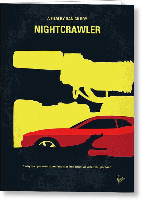 No794 My Nightcrawler Minimal Movie Poster Greeting Card by Chungkong Art