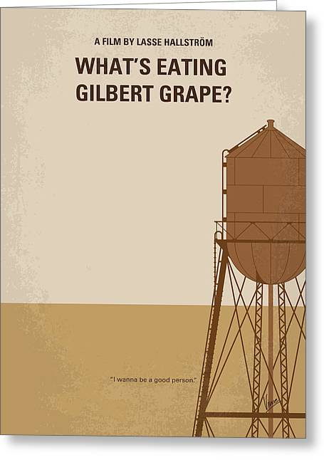 No795 My Whats Eating Gilbert Grape Minimal Movie Poster Greeting Card