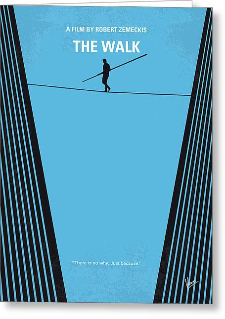 No796 My The Walk Minimal Movie Poster Greeting Card by Chungkong Art